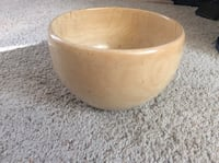 "Wood bowl, Maple 12""x14"" approx."