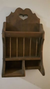 Solid wood toilet paper rack with storage