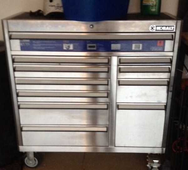 Kobalt Tool Cabinet >> Used Kobalt 41 In X 41 In 11 Drawer Ball Bearing Stainless Steel