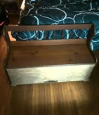 brown wooden bed headboard and footboard Statesville, 28677