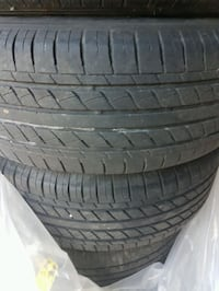 Set of 4 Black Widow RTX Rims with tires St. Catharines, L2T 1Z3