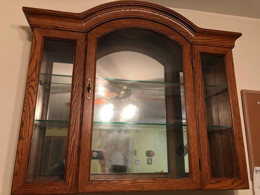 Used Large Wood Hanging Cabinet For Sale In Lindenhurst   Letgo