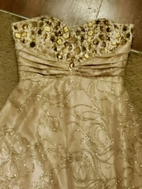 women's white and brown floral sleeveless dress 2311 mi