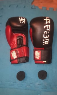 Muay Thai sparring gloves with hand wraps  Toronto, M6S 5B5