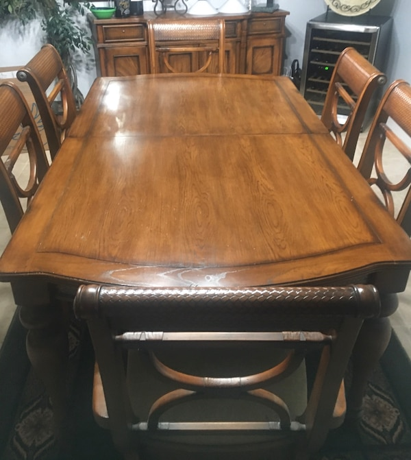 Used Dining Set By Ashley Furniture For