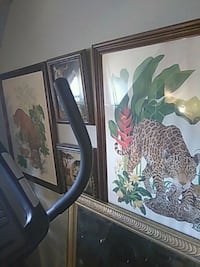 leopard painting with brown wooden frame Chicago, 60602