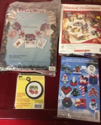 Cross Stitch, Plastic Canvas, Needlepoint Kits For Sale - Some New, Sealed