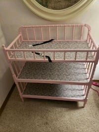 Pink wood baby changing table  Utica, 48316