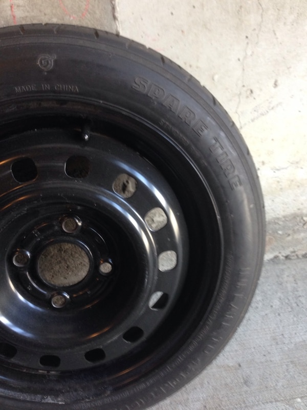 Spare tire from Ford Focus car