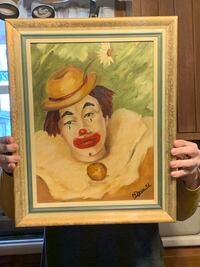 Greg the Clown oil painting by M. Dyer from 1967 Mercersburg, 17236