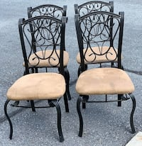 4 iron and microfiber dining chairs Harrisburg, 17112