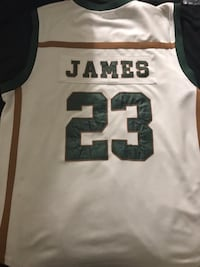 Lebron James highschool Jersey with signature on it. Washington, 20020