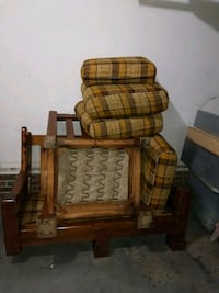 70's solid wood loveseat and chair Fayetteville, 28304