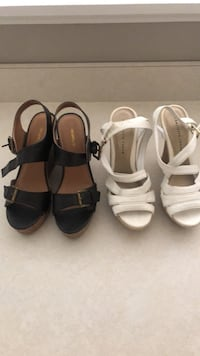 Shoes  black wedges size 71/2 white wedges soze 7 Millersville, 21108