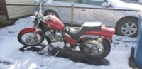 red and black standard motorcycle Hartly, 19953
