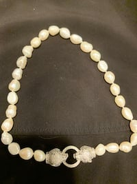 Sterling diver  and pearl cougar necklace Methuen, 01844