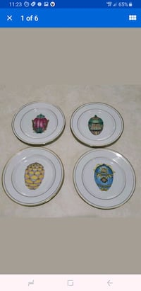 Lot of 4 Email de Limoges Veritable Porcelaine Egg
