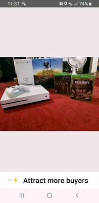 white Xbox One console with controller and game case East New Market, 21631