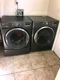 black front-load washer and dryer set Commerce City, 80022