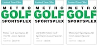 Golf lesson special in support of Metro Golf Sportsplex re opening  Markham, L6E