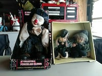 "12"" collectible porcelain clown and two porcelain doll collection Waterloo, 50702"