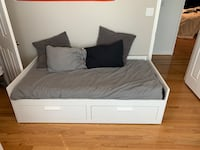 Kids bed twin with storage pull out to double bed (IKEA BRIMNES bed)  Herndon, 20170