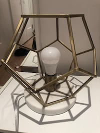 Geometric Marble Accent Lamp