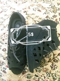 pair of black leather shoes Brampton, L6R