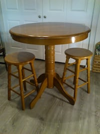 Counter Height Table and Two Stools West Springfield