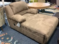 New brown microfiber reclining chaise lounge Virginia Beach, 23462