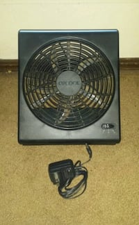Black electric or battery powered fan  Mustang, 73064