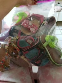 pair of brown-and-green sandals New Port Richey, 34652