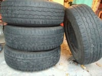 4 tires with rims all season - Size 235/70/16 Used Montreal, H4R 1A2