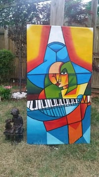 Stretched canvas musical painting 40 km