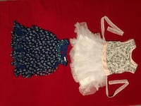 Light pink and white dress and blue blouse 2T each one and 5$us each. Burke, 22015