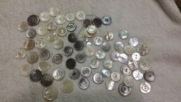 Mother of Pearl buttons 70 buttons