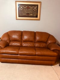 Brown leather 3-seat sofa Mobile, 36693