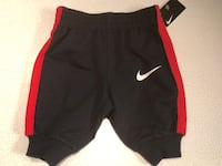 NIKE Red & Black sweatpants infant boys size 3 months - Brand New With Tags Plainfield, 60544