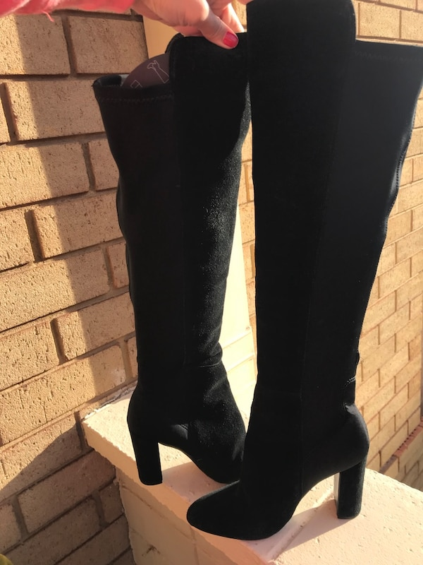 Over the knee suede boots. Size 5.