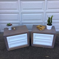 Refinished Matching Nightstands
