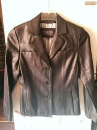 brown leather button-up jacket Jackson, 49201