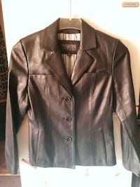 brown leather button-up jacket 420 mi