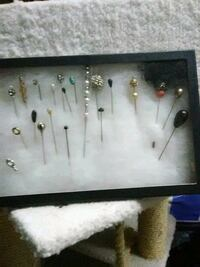 21 vintage hat pins,,,  Blue Point, 11715