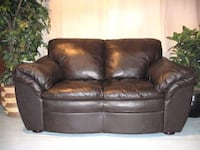 Brown leather loveseat Calgary