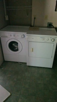 white front-load clothes washer and dryer set Surrey, V3S 0L5