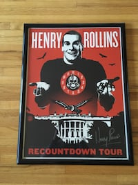 Framed and signed print by Henry Rollins himself numbered 291 out of 1650 Vancouver, V6H