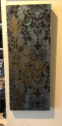 brown and black floral mattress