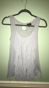 Gray scoop-neck ruffled tank top Sanford, 27330