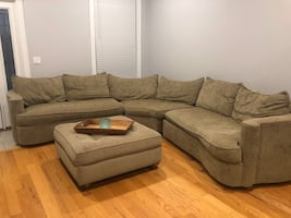Large Sectional Couch and ottoman