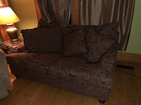 Burgundy floral fabric sofa and love seat. (LARGE) Both for $350. Originally around 1600 for both Syracuse, 13204